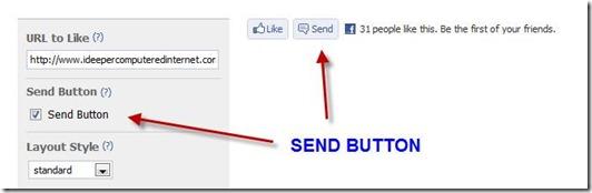 bottone invia send facebook