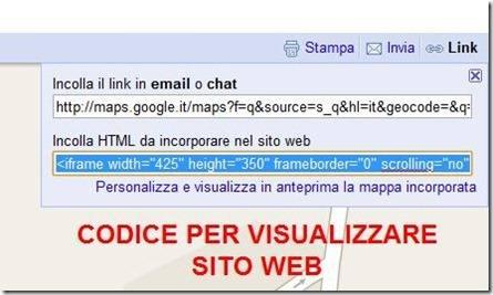 codice google maps