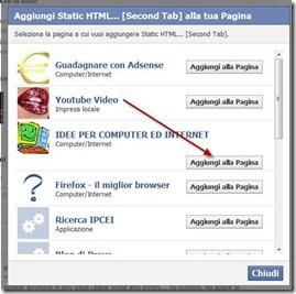 aggiungere una seconda scheda a static HTML iframe tabs