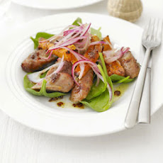 Sticky Sausage & Sweet Potato Salad