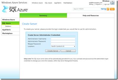 Create Azure SQL