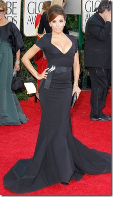 13.Eva Longoria in Zac Posen