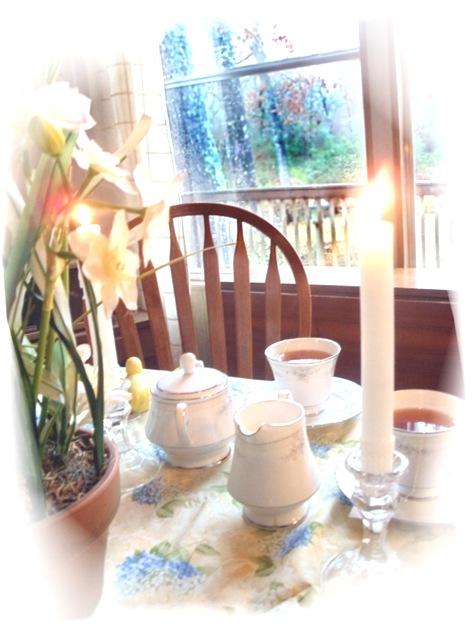 tea at window