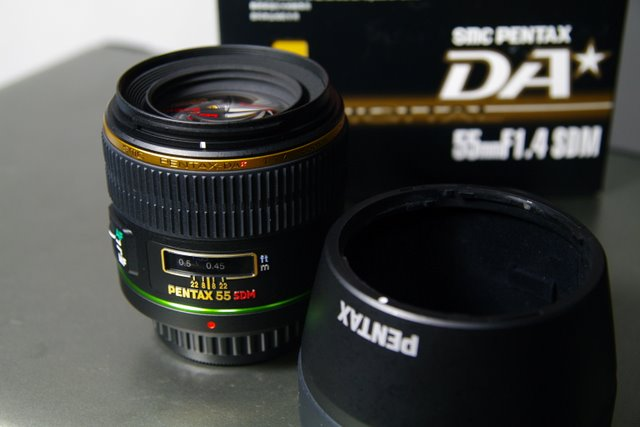 『開箱』Pentax DA55 F1.4 SDM