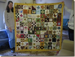 Quilt made by the Forum Ladies for Vicki - me  16th August 2009