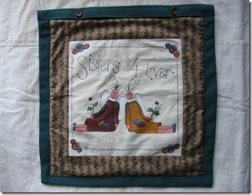 Sisters 4 ever cushion