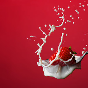strawberry milk  by Earl Wyant - Food & Drink Fruits & Vegetables