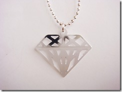 Colar Diamante Prateado