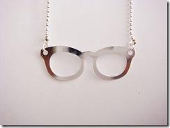 Colar Oculos Prateado