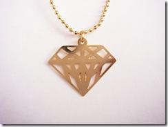 Colar Diamante Dourado
