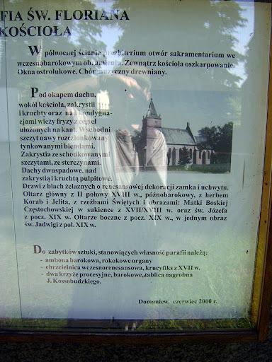 opis historii kościoła w Domaniewie
