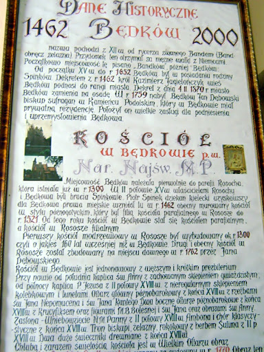 tablica informacyjna w kościele