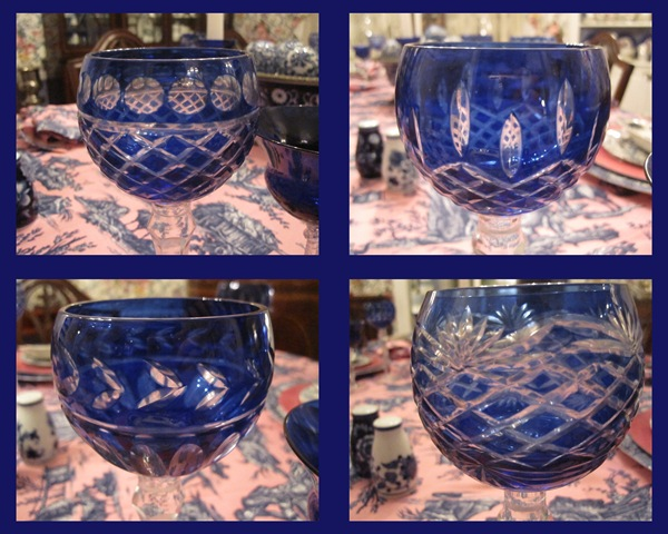 Blue glass collage