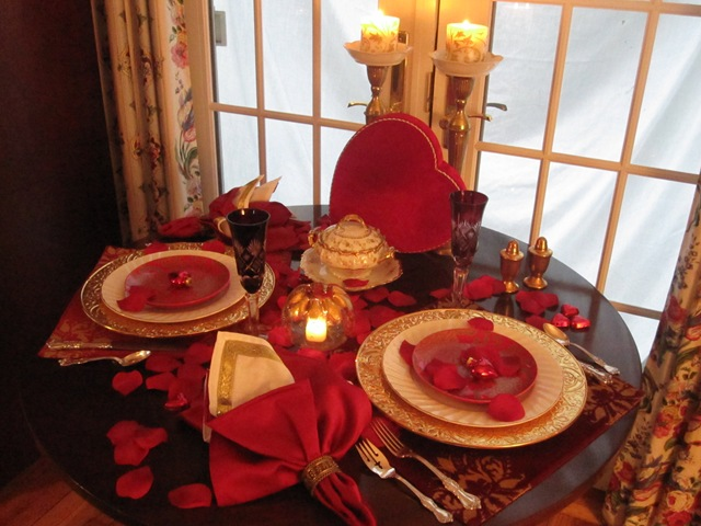 the tablescaper romantic valentine s dinner for two