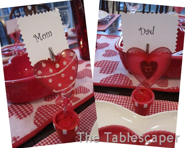 Valentine place cards