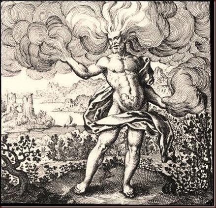 M. Maler, (Atalanta fugiens), Oppenheim 1618. Η γέννηση της φιλοσοφικής λίθου στον αέρα