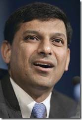 IMF Economic Counselor and Research Department Director Raghuram Rajan briefs the press on the World Economic Outlook on April 13, 2005 at the International Monetary Fund Headquarters (IMF), Washington, D.C. The IMF World Economic Outlook presents analysis and projections of economic developments at the global level, in major country groups and in many individual countries. 