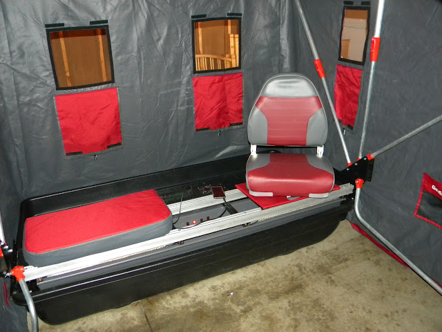 Quickflip ii with bench seat mod for Ice fishing seat