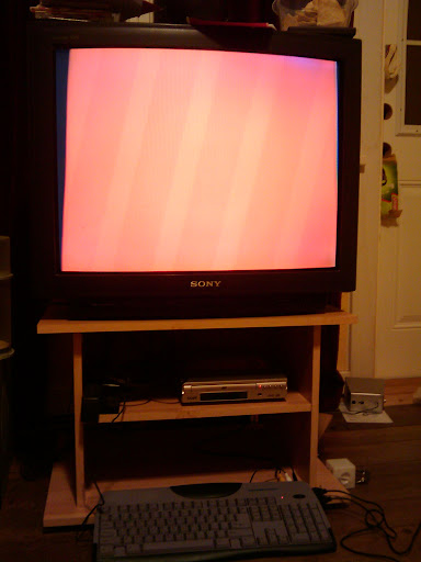 the red screen of stupidity. put the cartridge in!