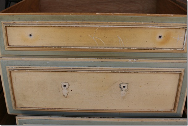 cleaning, prepping, and sanding antique dresser (12)