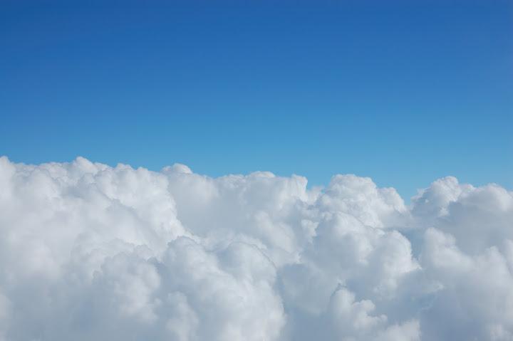 富士山から雲海を見た写真