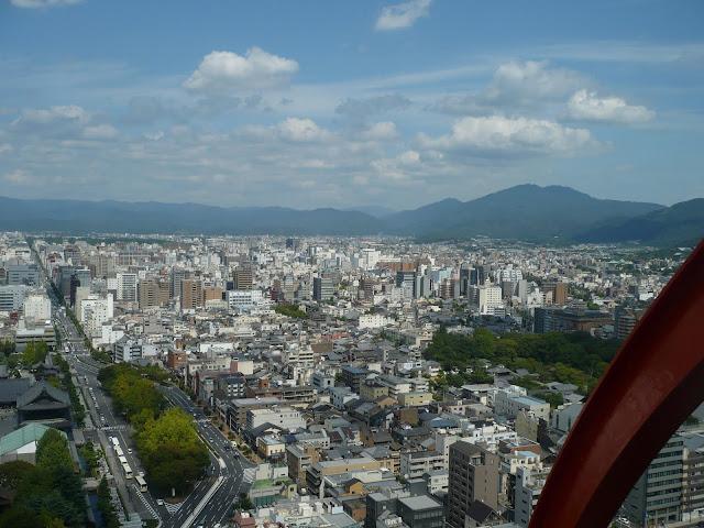 京都タワーから北を見る写真