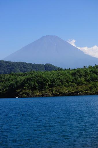 西湖から富士山の写真