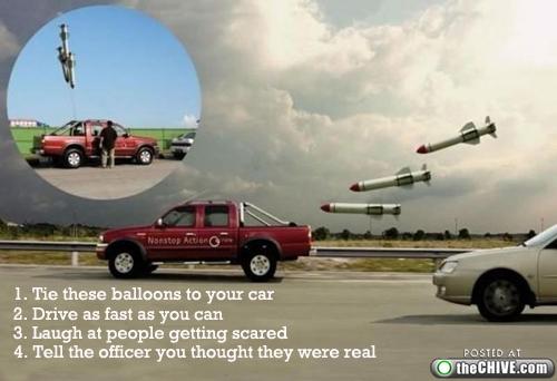 Ракетные воздушные шарики