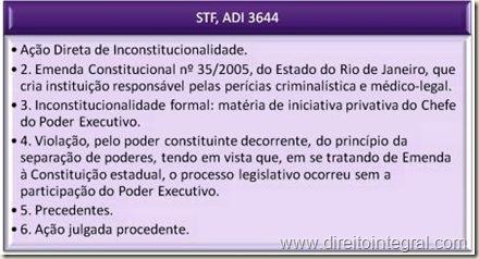 STF. ADIn 3644. Criação de Órgão da Administração Pública Mediante Emenda à Constituição Estadual. Inconstitucionalidade Formal. Vício de Iniciativa.