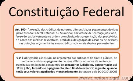 Artigo 100, §1º da CF. Precatórios e Prazo para pagamento.