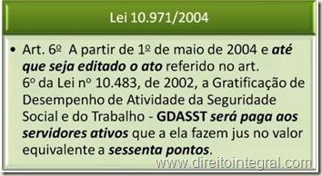 Jurisprudência. STF. Lei 10.971 de 2004. art. 6º.