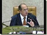 STF. Ministro Gilmar Mendes. Possibilidade de Livre escolha de Procuradores Estaduais pelo Governador. Vídeo.