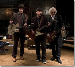 Jack White, The Edge e Jimmy Page