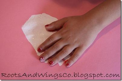 valentine heart handprint 1