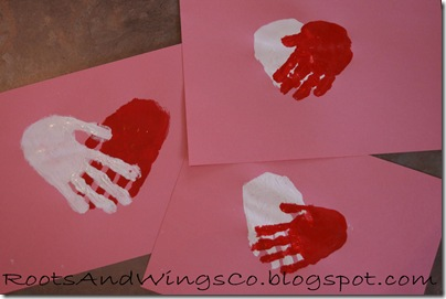 valentine heart handprint 4
