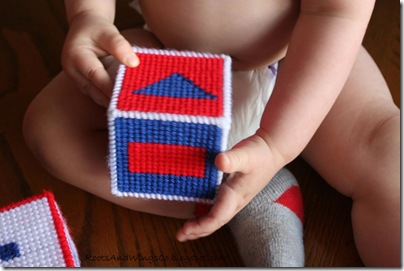 Stitched Canvas Infant Blocks 13