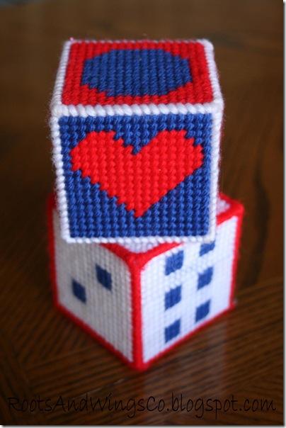 Stitched Canvas Infant Blocks 5