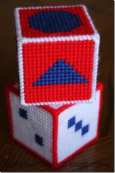 Stitched Canvas Infant Blocks 6