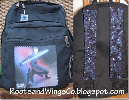 Backpack make over front and back