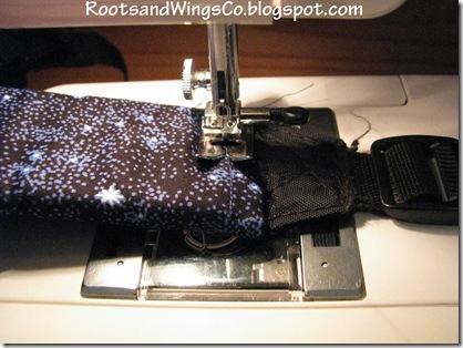 2 Sew tube onto strap