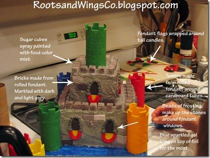castle cake details