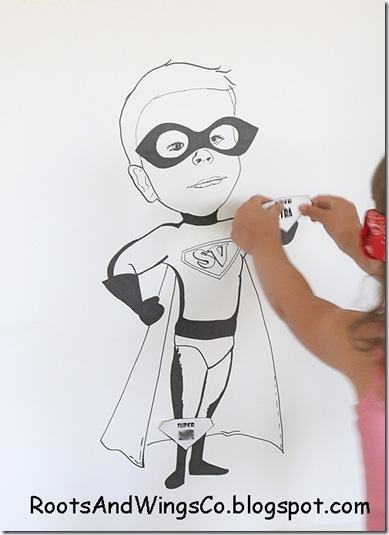 pin the emblem on the super hero game