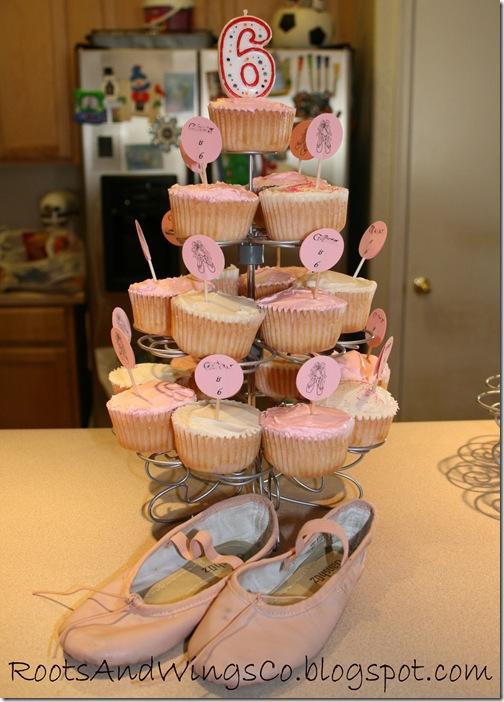 ballerina birthday cupcakes
