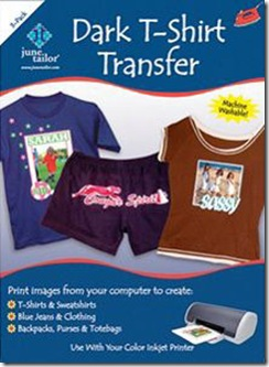 Dark T-shirt iron on transfer paper