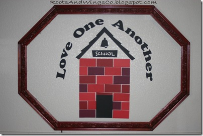 August Bulletin Board Love School House