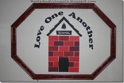 August Bulletin Board Love School House