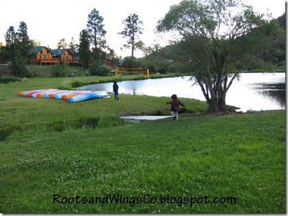 the kids joy of running around the ponds