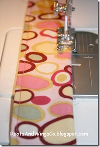 12 press then topstitch along each edge