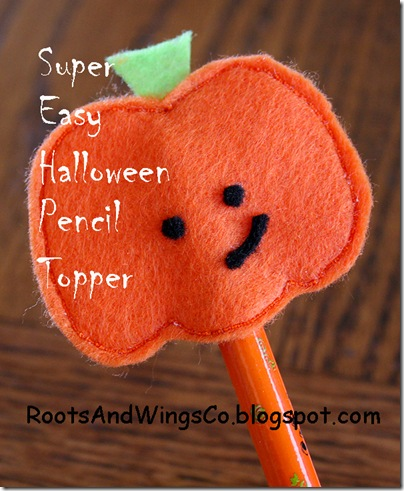 Super Easy Halloween Pencil Topper