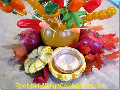 Thanksgiving edible arrangement center piece 2